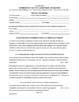 Stormwater Utility Fee Adjustment Application Form